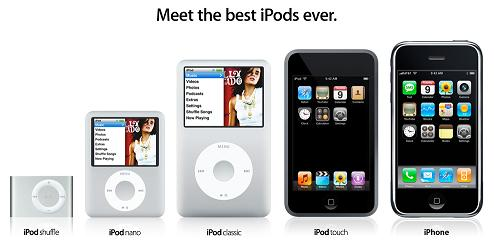 New iPod line-up