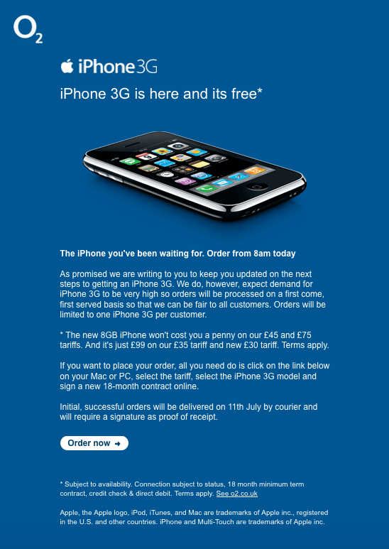 pre ordering a 3g iphone through o2 what a nightmare updated mike 39 s blog. Black Bedroom Furniture Sets. Home Design Ideas