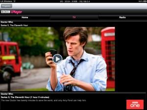 iPlayer App on the iPad